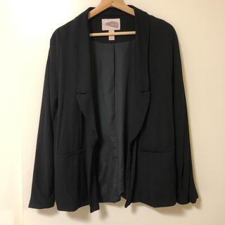 フォーエバートゥエンティーワン(FOREVER 21)のFOREVER21 love21 シンプルドルマンジャケット ブラック 黒 S(テーラードジャケット)