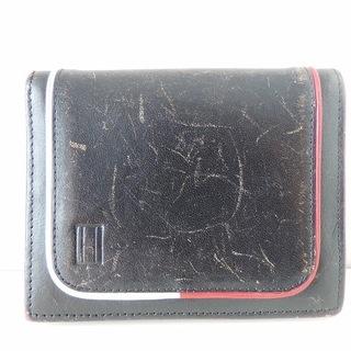 トミーヒルフィガー(TOMMY HILFIGER)のトミーヒルフィガー 札入れ 黒×レッド×白(財布)
