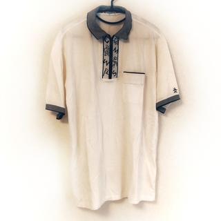 マンシングウェア(Munsingwear)のマンシングウェア 半袖ポロシャツ 白×黒(ポロシャツ)