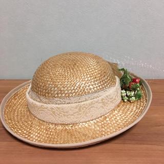 イノセントワールド(Innocent World)の9月末まで春の小さなブーケのドレスハット(麦わら帽子/ストローハット)