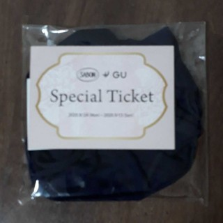 ジーユー(GU)のなちゅき様専用、SABON×ジーユーのオリジナルシュシュ(ヘアゴム)&チケット(ヘアゴム/シュシュ)