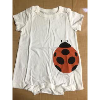 ムジルシリョウヒン(MUJI (無印良品))の無印良品 ロンパース  70〜80  てんとう虫(ロンパース)