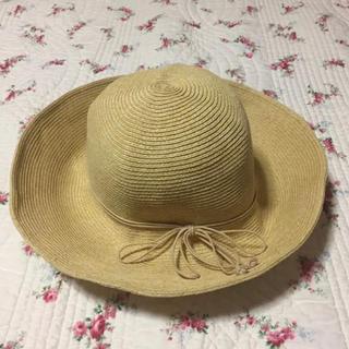 ユニクロ(UNIQLO)の自宅試着のみ ユニクロ  折畳み ハット 麦わら帽子  つば広(麦わら帽子/ストローハット)