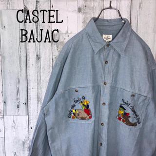 カステルバジャック(CASTELBAJAC)のカステルバジャック 刺繍ロゴ デニムシャツ キャラシャツ ジージャン ゆるだぼ(シャツ)