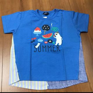 クレードスコープ(kladskap)のクレードスコープ 新品 シロクマ 風物詩 Tシャツ 110(Tシャツ/カットソー)
