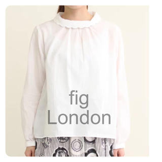 フィグロンドン(fig London)のfig London カイネンワッシャースカラップ衿ブラウス(シャツ/ブラウス(長袖/七分))