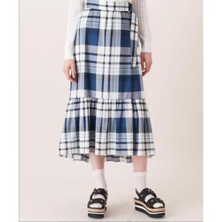 バーバリーブルーレーベル(BURBERRY BLUE LABEL)の【着用1回】最終値下げBLUE LABEL マドラスチェック スカート(ロングスカート)
