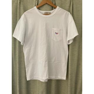メゾンキツネ(MAISON KITSUNE')のメゾンキツネ トリコロール 白 S(Tシャツ/カットソー(半袖/袖なし))