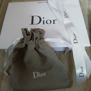 ディオール(Dior)のDior ギフト袋 お試しオードトワレ2本(ラッピング/包装)