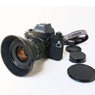 キヤノン(Canon)のキャノンニューF1( ニューFD20-35 f3.5 L)付(フィルムカメラ)
