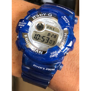 ベビージー(Baby-G)のbaby-G/G-SHOCK/フロッグマン/スケルトン/BGW-103/クリア(腕時計(デジタル))