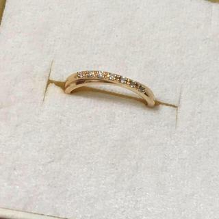 ヨンドシー(4℃)の美品 4°C k18 ダイヤ リング 8号 ✨ 18金 指輪(リング(指輪))