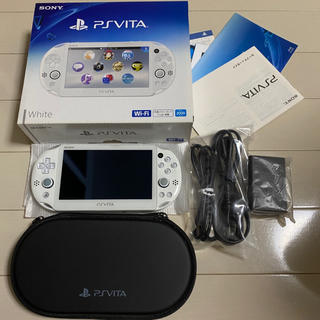 プレイステーションヴィータ(PlayStation Vita)のPlayStation Vita Wi-Fiモデル ホワイト 2000シリーズ(携帯用ゲーム機本体)