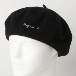アニエスベー(agnes b.)のアニエスベー  ベレー帽 黒(ハンチング/ベレー帽)