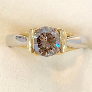 ✨一粒✨1ctUP❣️ダイヤモンド ダイヤ Pt900 K18 リング 指輪(リング(指輪))