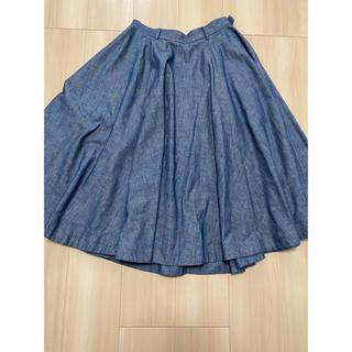 フォーティーファイブアールピーエム(45rpm)の45rpm  デニム ロングスカート 美品(ロングスカート)
