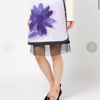 ランバンオンブルー(LANVIN en Bleu)のランバン スカート アネモネ 新品未使用 美品(ひざ丈スカート)