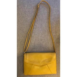 レディース ポシェット バッグ 軽量ミニバッグ 黄色(ショルダーバッグ)