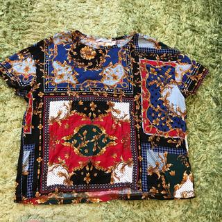 ザラ(ZARA)のZARA☆ 柄Tシャツ 未使用(Tシャツ(半袖/袖なし))