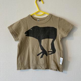 マーキーズ(MARKEY'S)のマーキーズかえる?Tシャツベージュ80(Tシャツ)