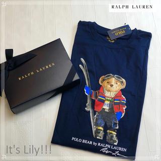 ラルフローレン(Ralph Lauren)の国内完売 人気 ネイビー ラルフローレン  ポロベア   ロンt キッズXL(Tシャツ/カットソー(七分/長袖))