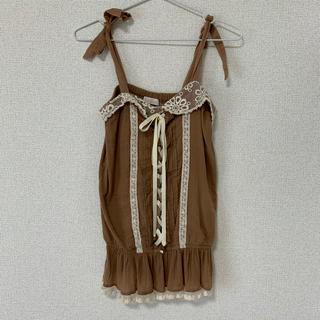 リズリサ(LIZ LISA)のリズリサ ノースリーブトップス(カットソー(半袖/袖なし))
