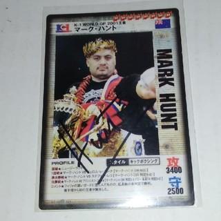 コナミ(KONAMI)の02年·直筆サイン入り‼️K ― 1 マーク·ハントカード KONAMI(格闘技/プロレス)