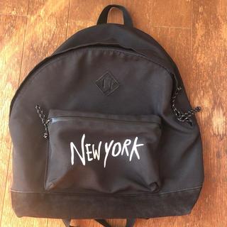 ウィゴー(WEGO)のWEGO リュック ブラック NEWYORK(リュック/バックパック)