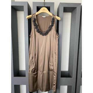 ブルネロクチネリ(BRUNELLO CUCINELLI)のブルネロクチネリ  ワンピース ドレス XS 極美品 ハンガー付けます!(ひざ丈ワンピース)