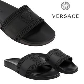 ヴェルサーチ(VERSACE)の2 VERSACE ブラック パラッツォ メデューサ サンダル size 40(サンダル)