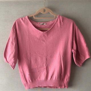 ミスティック(mystic)のmistic ピンク ニット シャツ(Tシャツ(半袖/袖なし))