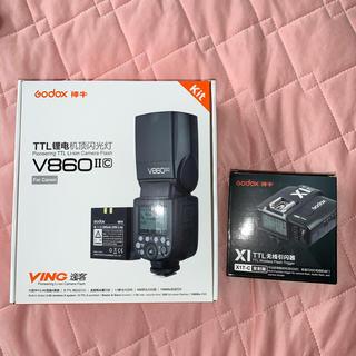 キヤノン(Canon)の(キヤノン用)Godox V860 II + X1 TTL セット(ストロボ/照明)