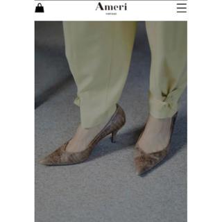 アメリヴィンテージ(Ameri VINTAGE)のAmeri VINTAGE CROCO BASIC PUMPS  ブラウン(ハイヒール/パンプス)