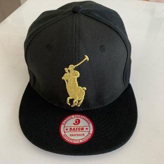 ラルフローレン(Ralph Lauren)のPOLOラルフローレン黒キャップ 帽子(キャップ)