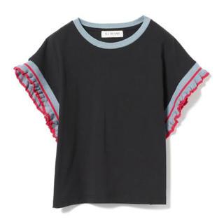 ビームス(BEAMS)のRay Beams ラインフリルスリーブTシャツ(Tシャツ(半袖/袖なし))