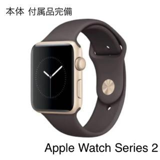 アップルウォッチ(Apple Watch)のApple Watch Series 2  42mm ゴールド ココア 付属品付(腕時計(デジタル))