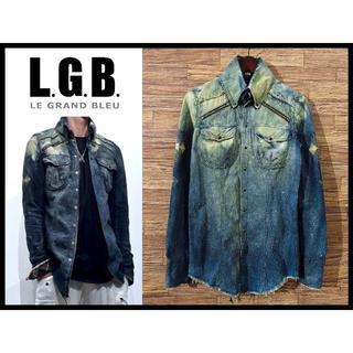 LGB - 新品 LGB ルグランブルー ブリーチ加工 チマヨ柄 デニム ウエスタン シャツ