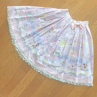 ベイビーザスターズシャインブライト(BABY,THE STARS SHINE BRIGHT)のなかよしくみゃちゃんのTrick or Treat柄スカート(ひざ丈スカート)