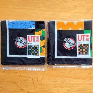 ユニクロ(UNIQLO)の【新品】鬼滅の刃 ユニクロ ノベルティ バンダナ  2枚セット 非売品(バンダナ/スカーフ)