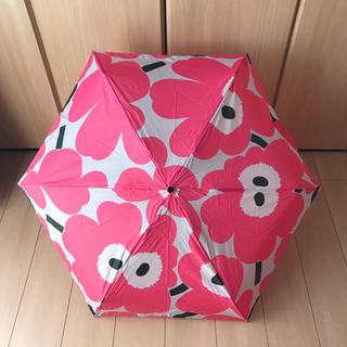 マリメッコ(marimekko)のマリメッコ unikko ウニッコ 傘 折りたたみ傘 ピンク(傘)