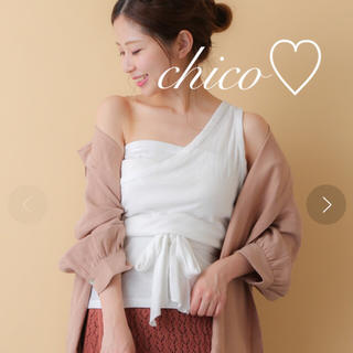 who's who Chico - 新品格安♡チコ♡ワンショルリボンT