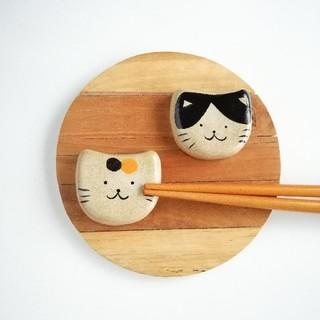 三毛猫 ハチワレ猫 箸置きセット(キッチン小物)