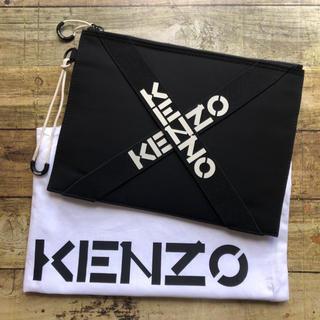 ケンゾー(KENZO)の最新作! 新品 KENZO ケンゾー クロスロゴ クラッチバッグ(セカンドバッグ/クラッチバッグ)