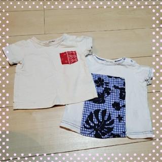 ナルミヤ インターナショナル(NARUMIYA INTERNATIONAL)のナルミヤ*Tシャツ*2枚セット*80(Tシャツ)