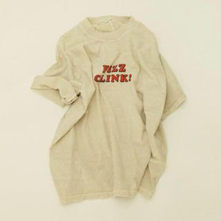 トゥデイフル(TODAYFUL)の限定値下げTODAYFUL* FlZZ CLINK T-Shirts エクリュ(Tシャツ/カットソー(半袖/袖なし))