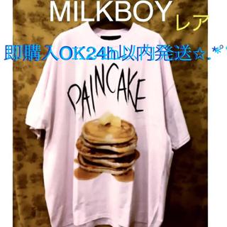 ミルクボーイ(MILKBOY)のレア MILKBOY PAINCAKE パンケーキ Tシャツ PINK(Tシャツ/カットソー(半袖/袖なし))