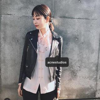 アクネ(ACNE)の9日までの出品 ACNE STUDIOS Mock レザーライダースジャケット(ライダースジャケット)
