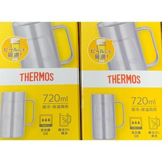 サーモス(THERMOS)のベストセラー!サーモス真空断熱ジョッキ720ml3個 氷長持ち飲み物薄まりにくい(タンブラー)