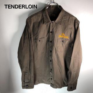 テンダーロイン(TENDERLOIN)のテンダーロイン ワークジャケット 刺繍ロゴ カーキ TENDERLOIN(ブルゾン)