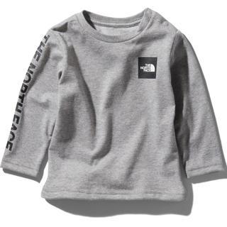 ザノースフェイス(THE NORTH FACE)の【新品未使用】ノースフェイス ロングTシャツ スクエアロゴティー グレー 80(Tシャツ)